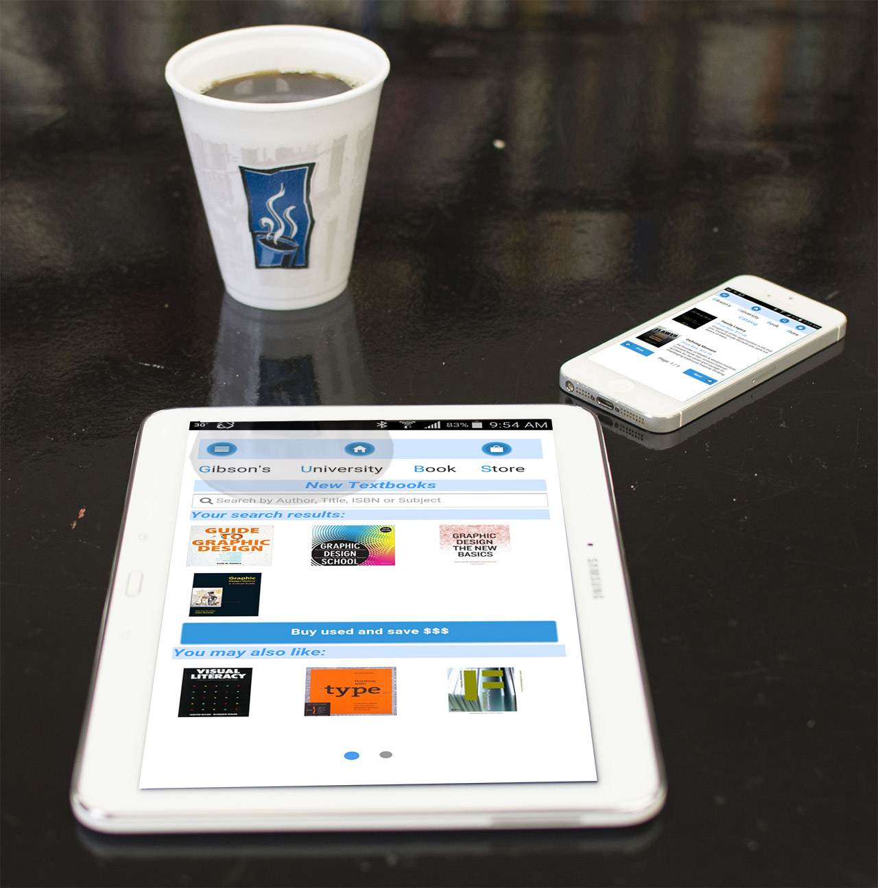 Tablet Phone CoffeeOnDesk 1280